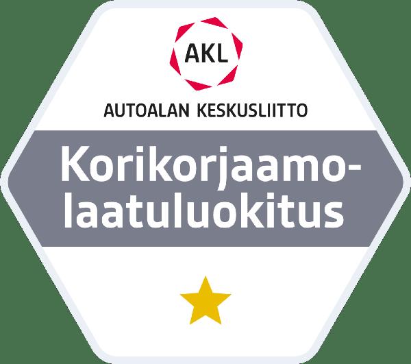 AKL_Korikorjaamolaatuluokitus_1_tähti
